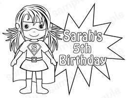 Download supergirl coloring pages for kids clipart Supergirl ...