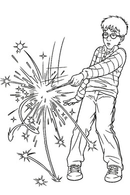 Harry Potter Spell Coloring Pages Clipart The Book Colouring