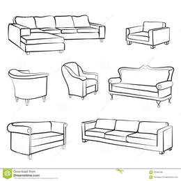 Couch Furniture Chair Illustration Drawing Bed Product Line