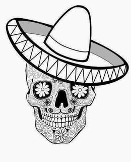 Download dia de los muertos coloring pages clipart Calavera Coloring ...