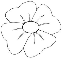 Download poppy template printables clipart Remembrance poppy Clip art