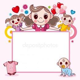 Download Cartoon Family Photo Frame Clipart Clip Art