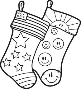 Download christmas stockings coloring pages for kids clipart ...
