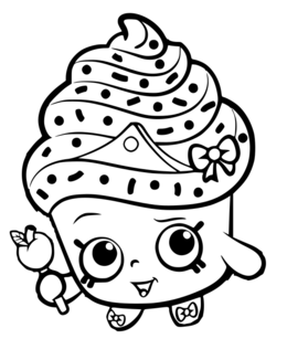 Download Cupcake Queen Shopkins Drawing Clipart Coloring Book