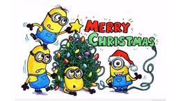 download merry christmas minions clipart christmas day minions clip art christmas cartoon art font graphics bird illustration clipart free download - Minion Merry Christmas