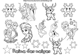 Download Coloriage Reine Des Neiges Clipart Elsa Anna Olaf