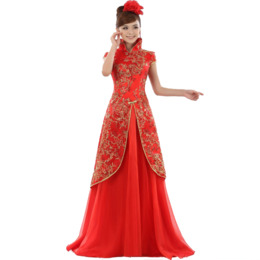 Download red wedding dresses chinese clipart Wedding dress Cheongsam ...