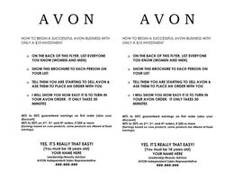download avon flyers templates clipart direct selling sales flyer