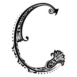 letter c fancy clipart decorative letters alphabet