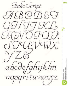 handwriting cursive calligraphy letters az clipart handwriting line font