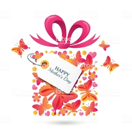 Gift Illustration Holiday Pink Flower Text Heart Font Line