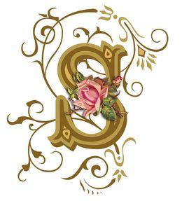 download floral fancy letter s clipart letter clip art