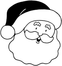 download santa face coloring page clipart santa claus coloring book colouring pages