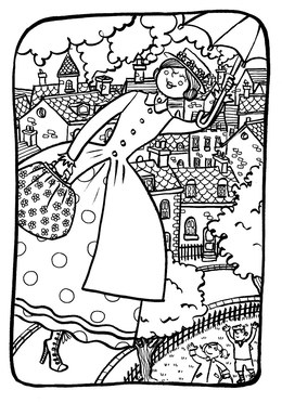 Download mary poppins colouring clipart Coloring book Colouring ...