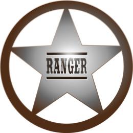 Ranger Badge Shower Curtain Clipart Texas Rangers Division