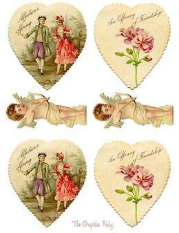 Download Free Printable Vintage Valentines Clipart Valentine S Day
