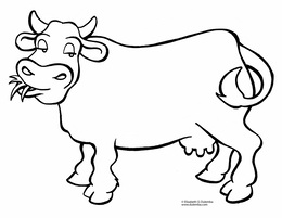 Download Cow Coloring Pages Clipart Cattle Calf Book