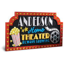 Download Personalized Home Theater Sign Clipart Cinema Systems Film