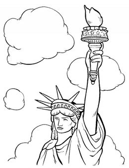 Download Statue Of Liberty Coloring Page Easy Clipart Colouring Pages Book