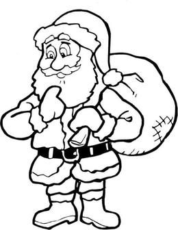 download santa coloring clipart santa claus coloring book colouring pages