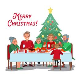 download christmas eve family dinner cartoons clipart christmas dinner christmas day clip art - Christmas Eve Clipart