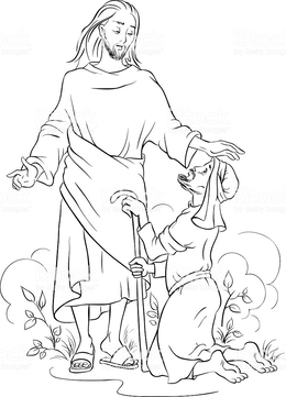 Jesus Healing Man Coloring Pages Clipart The Blind Near Jericho Paralytic At Capernaum