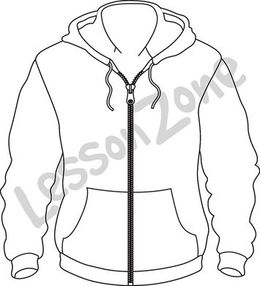 how to draw a hoodie easy