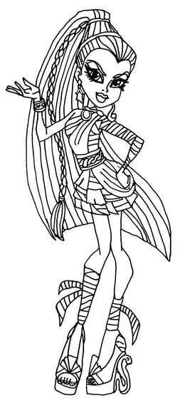 Download Monster High Coloring Pages Clipart Colouring Frankie Stein Book