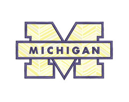 Thank You For Downloading Michigan Wolverines Coloring Pages