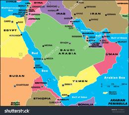 Download arabian peninsula map labeled clipart Arabian Peninsula ...