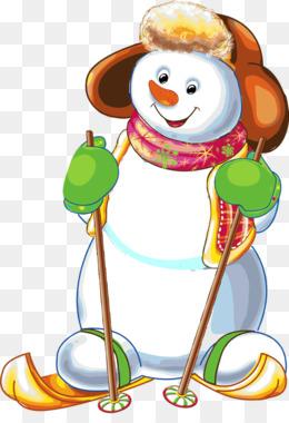 雪人雪崩圣诞节