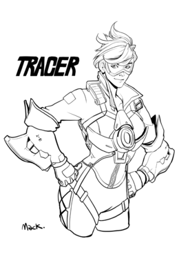 Download Tracer Coloring Pages Clipart Overwatch World Of Warcraft Book