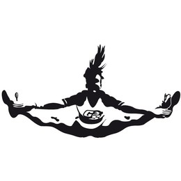 Cheerleader toe touch. Download silhouette clipart cheerleading