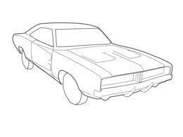 Free Dodge Charger Car Coloring Pages, Download Free Clip Art ... | 195x260