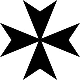 Maltese Cross Firefighter Pumpkin Clip Art