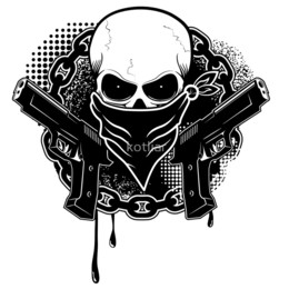 Download Gangsta Skull Clipart Drawing Royalty Free