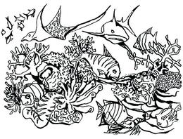 Colouring Pages Coral Reef Download Clipart Thank You For Downloading