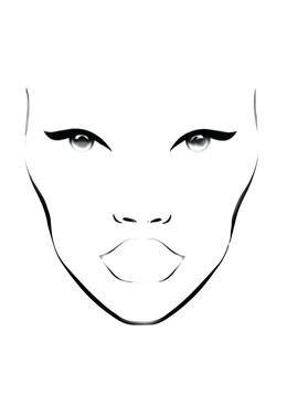 Blank Face Chart Clipart Makeup Artist