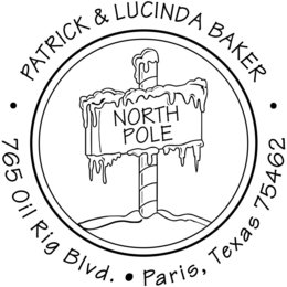 Download North Pole Sign Clipart Santa Claus Postage Stamps