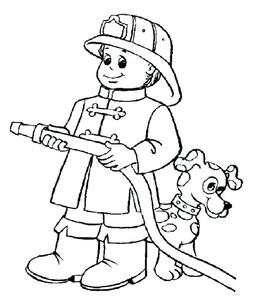 Thank You For Downloading Firefighter Coloring Pages Clipart