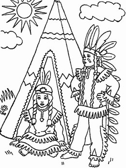 Download native american coloring page clipart Coloring book ...