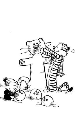 Download Calvin And Hobbes Coloring Pages Clipart Book Colouring