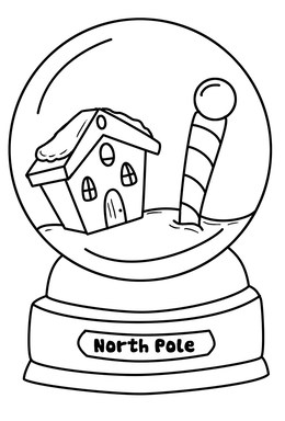 download snow globe coloring page clipart coloring book snow globes christmas coloring pages