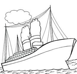 Download titanic ship coloring page clipart The Titanic ...