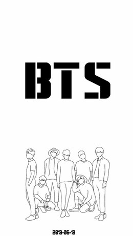 Wallpaper Kpop Logo Bts Drawing Pictures Www Picturesboss Com