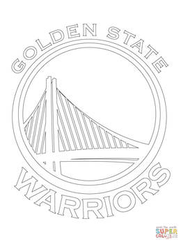 Download Warriors Coloring Pages Clipart Golden State NBA Book