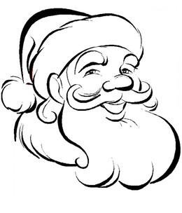 Download Santa Face Coloring Page Clipart Santa Claus Christmas