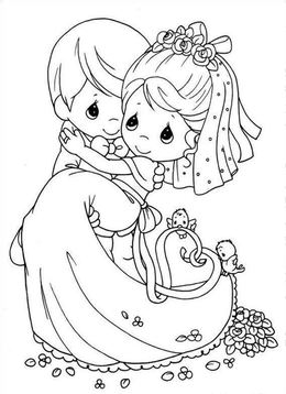 Download coloring books wedding clipart Wedding Coloring Book ...