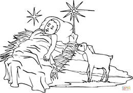 Download baby jesus coloring pages clipart Coloring book Infant ...