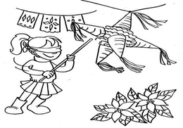 Page Clipart Viva Pinata Las Posadas Coloring Book Download Thank You For Downloading